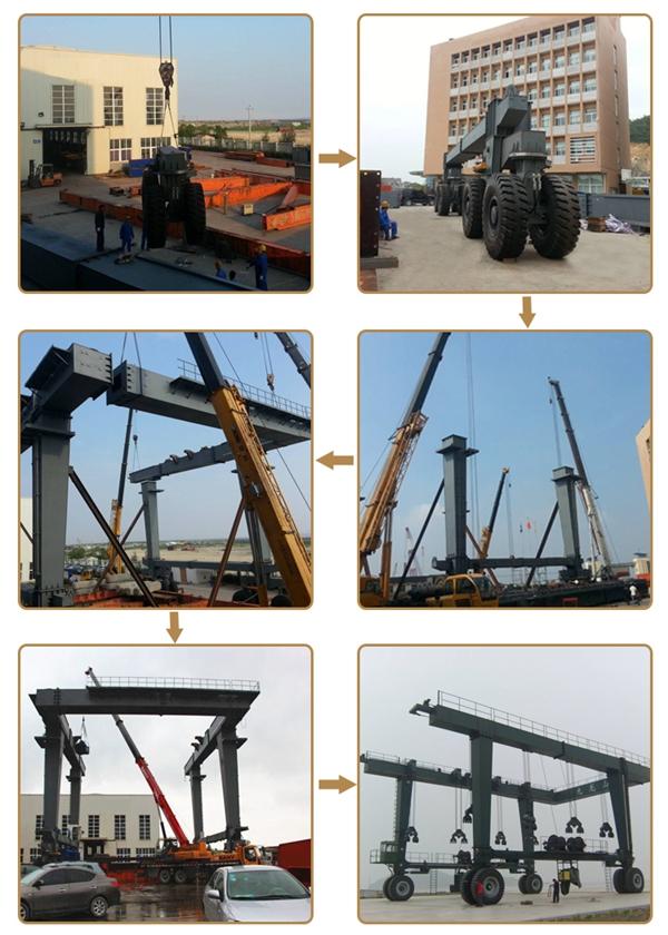 Great Boat Travel Hoist Crane Installation