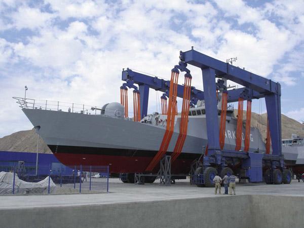 Heavy Duty 400 Ton Marine Boat Hoist